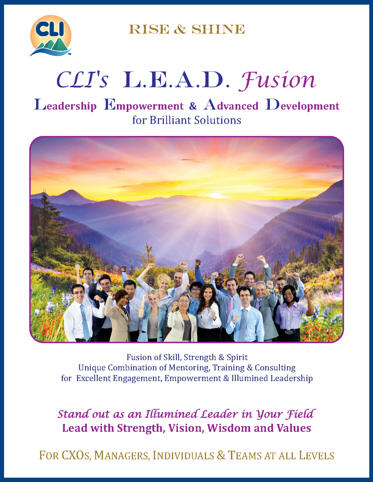 L.E.A.D.Fusion Brochure - Leadership Empowerment & Advanced Development for Brilliant Solutions