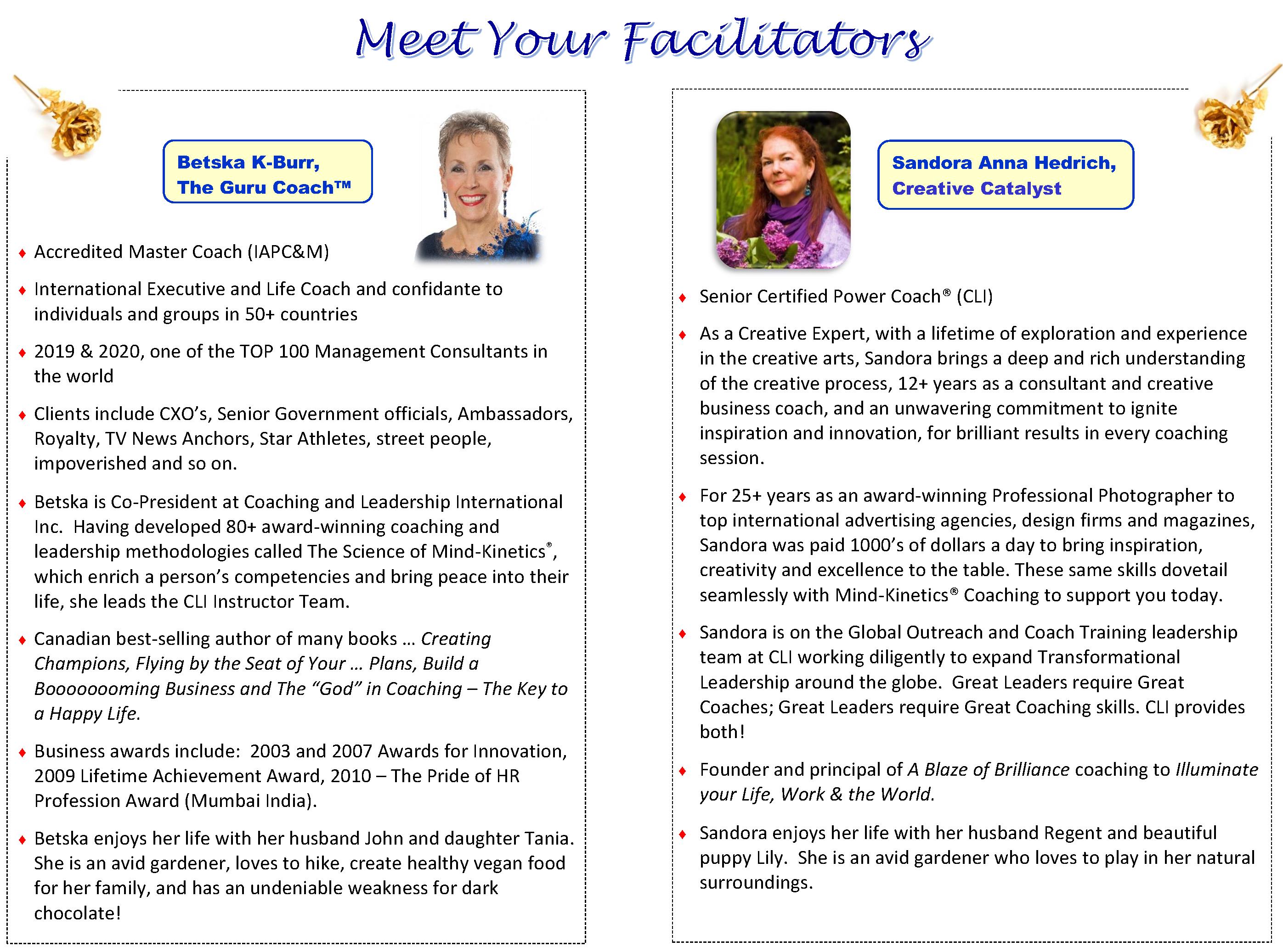 LEAD Meet Your Facilitators